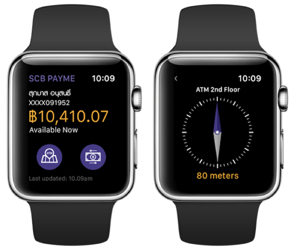 SCB – PayMe (prototype on Apple Watch)